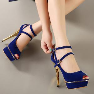 Fashion Peep Toe Ankle Straps Cross..