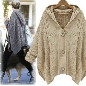 Hooded Cardigan Sweater Coat BCIBH