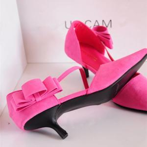 Pointed-Toe Asymmetrical Strap Kitt..