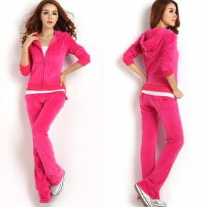 Autumn new velvet leisure suit spor..