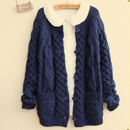 Thick Sweater Cardigan Sweater