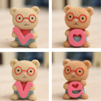 LOVE glasses bear ornaments gifts t..