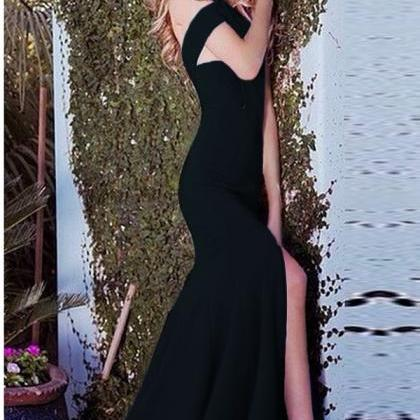 Elegant Black Off Shoulder Mermaid ..