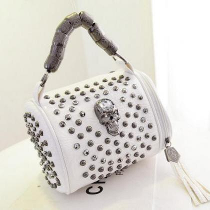Cool Skull Leather Handbag Shoulder..