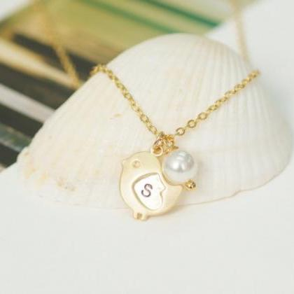 Baby Chick Necklace Personalized In..
