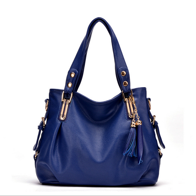 Fashion handbag trend of Europe and the United States with leather tassels leisure bags