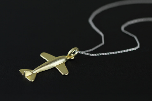 925 sterling silver jewelry pendant pendant small plane female models