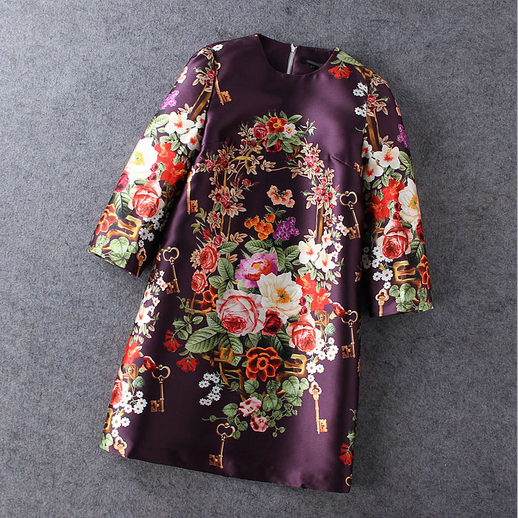 The color purple 7 floral print dress