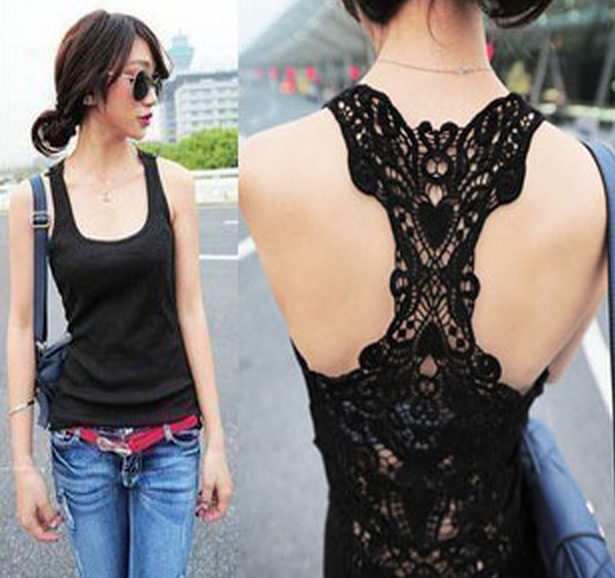 Women sexy hollow out vest