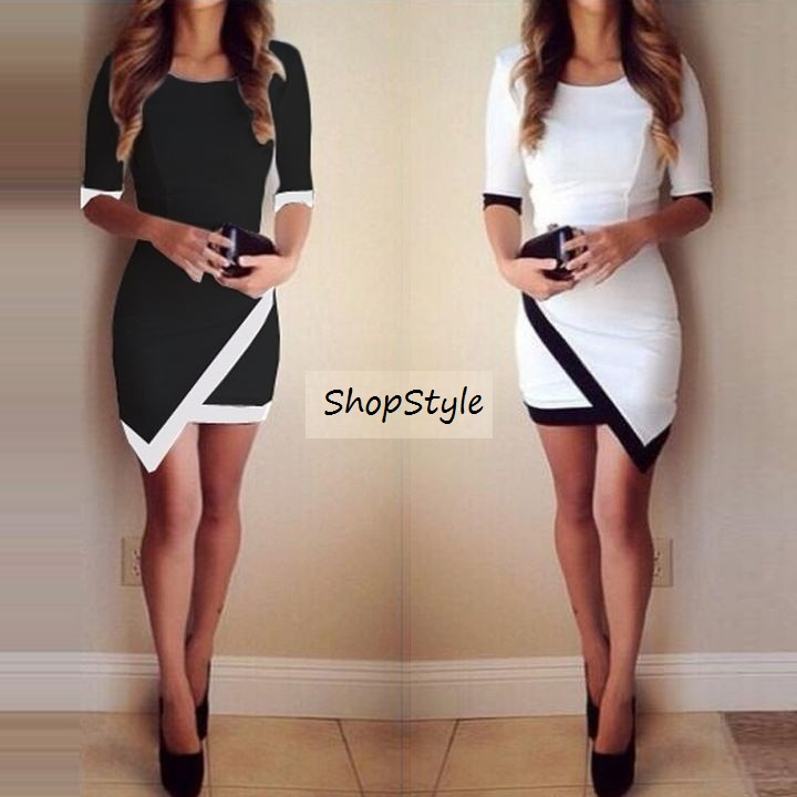 4046d9e1b241 Bandage Bodycon Asymmetric Evening Sexy Party Cocktail Mini Dress on ...