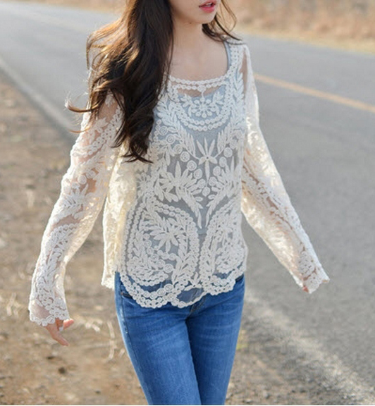 785f290e37 Openwork Lace Jacket Sunscreen Shirt MKh on Luulla