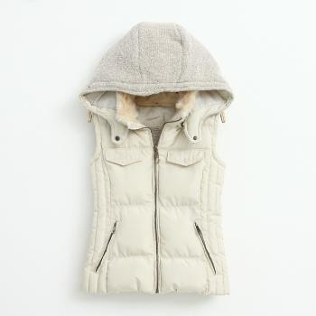 Knitting Stitching Slim Hooded Cotton Vest BBBEBC