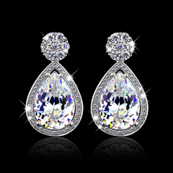 Europe and the United States luxury Teardrop Earrings