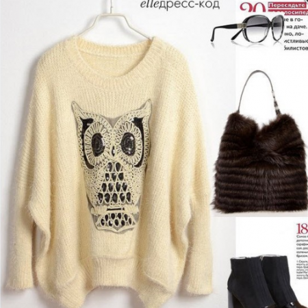 Twinking Owl Sweater