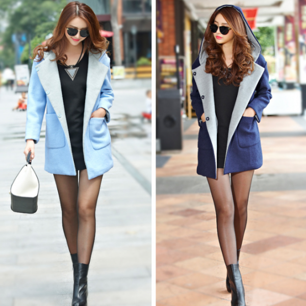 2014 new winter woolen coat wool thickening in the long section of warm overcoat