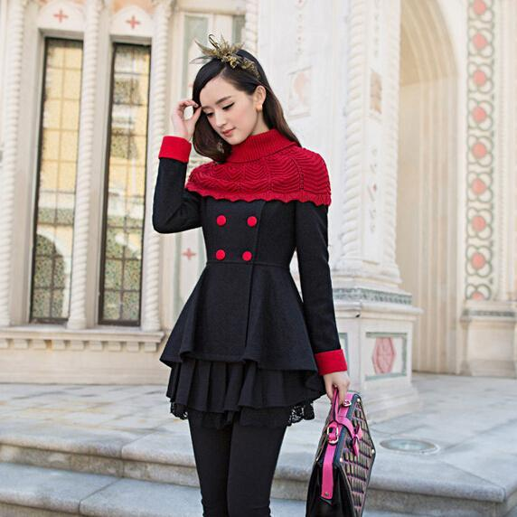Stylish Pleated Double Breasted Winter Coat In 3 Colors