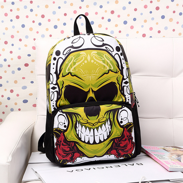 Hot skeleton arcade fan leisure inkjet double personality upstarts backpack Backpack