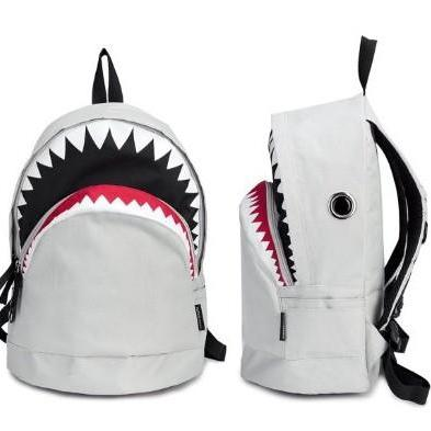 White Big Shark Backpack From Pomelo
