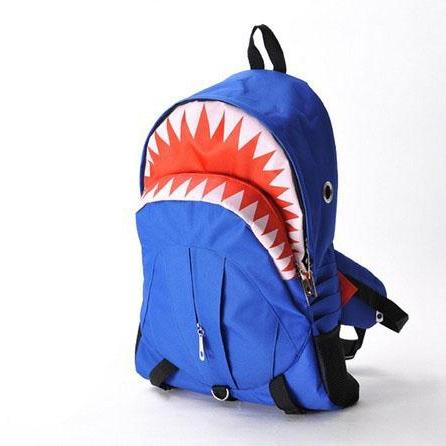 Blue Large Capacity Shark Backpack