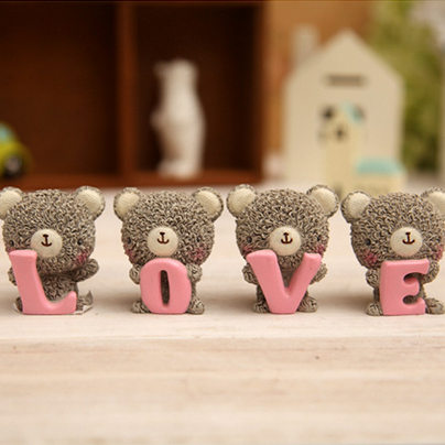 Resin crafts LOVE Tactic bear love performance special gift